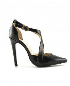 Sandale Galano Negre - Sandale cu toc - Sandale cu toc