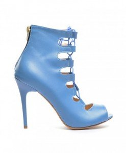 Sandale Genius Albastre 2 - Sandale cu toc - Sandale cu toc