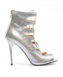 Sandale Genius Argintii - Sandale cu toc - Sandale cu toc
