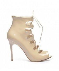 Sandale Genius Bej 2 - Sandale cu toc - Sandale cu toc