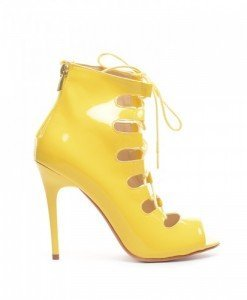 Sandale Genius Galbene - Sandale cu toc - Sandale cu toc
