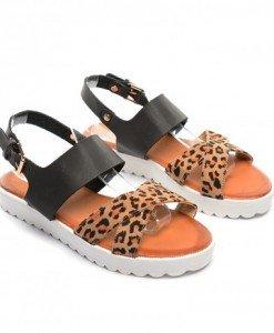Sandale Glorio Negre Leopard - Sandale - Sandale