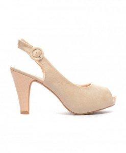 Sandale Hermina Bej - Sandale cu toc - Sandale cu toc