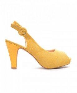 Sandale Hermina Galbene - Sandale cu toc - Sandale cu toc