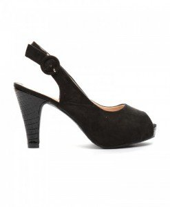 Sandale Hermina Negre - Sandale cu toc - Sandale cu toc