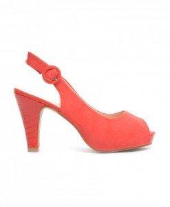 Sandale Hermina Rosii - Sandale cu toc - Sandale cu toc