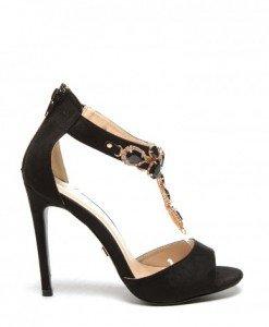 Sandale Human Negre - Sandale cu toc - Sandale cu toc