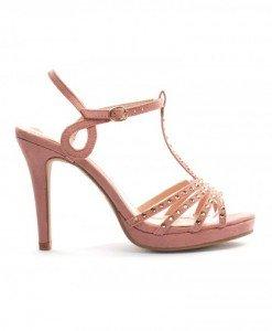 Sandale Iolanda Roz - Sandale cu toc - Sandale cu toc