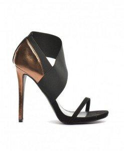 Sandale Iso Negre - Sandale cu toc - Sandale cu toc