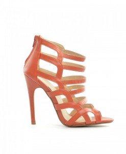 Sandale Jacky Rosii - Sandale cu toc - Sandale cu toc