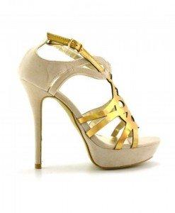 Sandale Jaco Bej Aurii - Sandale cu toc - Sandale cu toc