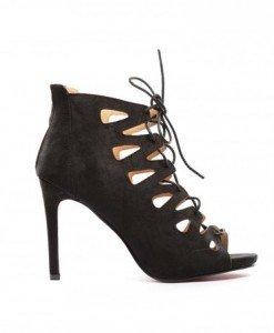 Sandale Jofa Negre 2 - Sandale cu toc - Sandale cu toc