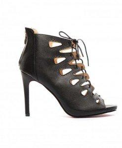 Sandale Jofa Negre - Sandale cu toc - Sandale cu toc