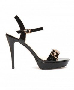 Sandale Jotem Negre - Sandale cu toc - Sandale cu toc