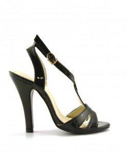 Sandale Kanto Negre 2 - Sandale cu toc - Sandale cu toc