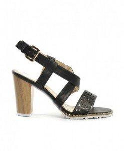 Sandale Karis Negre - Sandale cu toc - Sandale cu toc