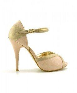 Sandale Kaso Bej - Sandale cu toc - Sandale cu toc