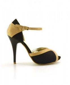 Sandale Kaso Negre - Sandale cu toc - Sandale cu toc