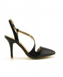 Sandale Kempes Negre - Sandale cu toc - Sandale cu toc