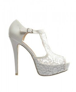 Sandale Kigo Albe - Sandale cu toc - Sandale cu toc