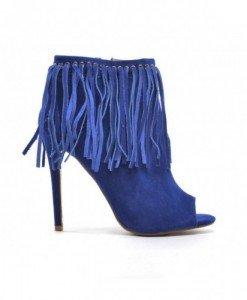 Sandale Lanov Albastre - Sandale cu toc - Sandale cu toc