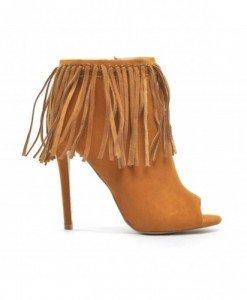 Sandale Lanov Camel - Sandale cu toc - Sandale cu toc