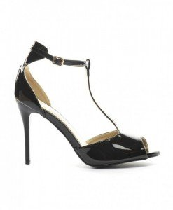 Sandale Laria Negre - Sandale cu toc - Sandale cu toc