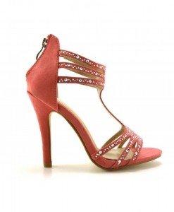Sandale Lasot Roz - Sandale cu toc - Sandale cu toc