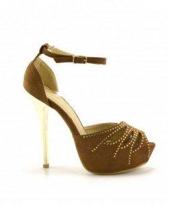 Sandale Laves Khaki - Sandale cu toc - Sandale cu toc