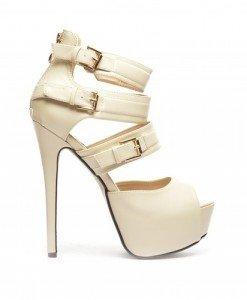 Sandale Loka Bej - Sandale cu toc - Sandale cu toc