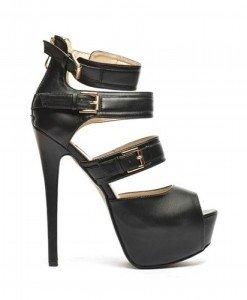 Sandale Loka Negre - Sandale cu toc - Sandale cu toc