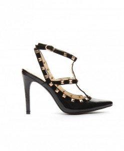 Sandale Lora Negre - Sandale cu toc - Sandale cu toc