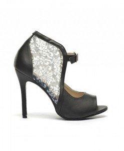 Sandale Luna Negre - Sandale cu toc - Sandale cu toc