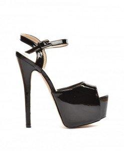 Sandale Lux Negre 2 - Sandale cu toc - Sandale cu toc