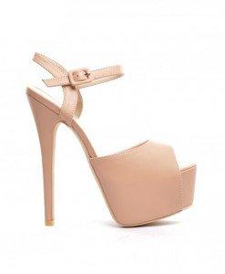 Sandale Lux Nude - Sandale cu toc - Sandale cu toc