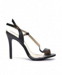 Sandale Mamba Negre - Sandale cu toc - Sandale cu toc