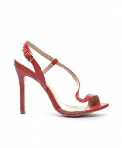 Sandale Mamba Rosii - Sandale cu toc - Sandale cu toc