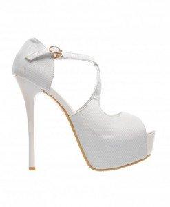 Sandale Marina Albe - Sandale cu toc - Sandale cu toc