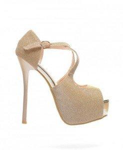 Sandale Marina Aurii - Sandale cu toc - Sandale cu toc