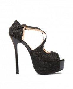 Sandale Marina Negre - Sandale cu toc - Sandale cu toc