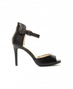 Sandale Maxel Negre - Sandale cu toc - Sandale cu toc