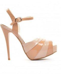 Sandale Meba Camel - Sandale cu toc - Sandale cu toc