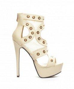 Sandale Migal Bej - Sandale cu toc - Sandale cu toc