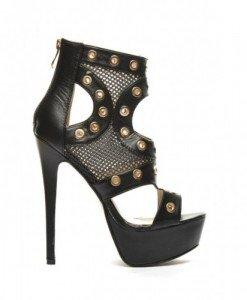 Sandale Migal Negre - Sandale cu toc - Sandale cu toc