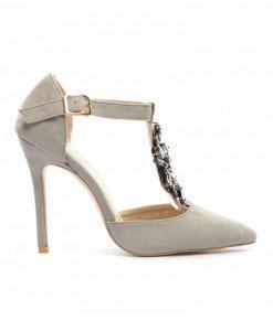 Sandale Milu Gri - Sandale cu toc - Sandale cu toc