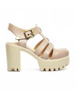 Sandale Miraj Khaki - Sandale cu toc - Sandale cu toc