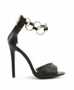 Sandale Moda Negre - Sandale cu toc - Sandale cu toc