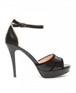 Sandale Mondei Negre 2 - Sandale cu toc - Sandale cu toc