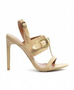 Sandale Mono Bej - Sandale cu toc - Sandale cu toc
