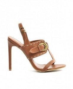 Sandale Mono Camel - Sandale cu toc - Sandale cu toc